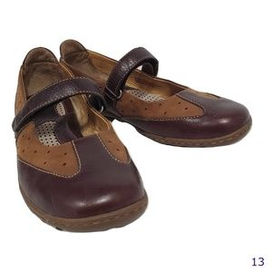 Born Brown Leather Mary Janes Size 8 1/2